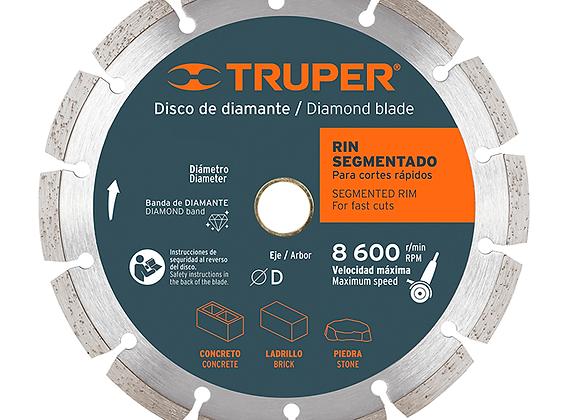 """DISCO D/DIAMANTE RIN SEGMENTADO 7"""" 2.5MM TRUPER MOD:DID-370"""