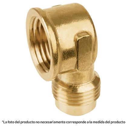CODO CONECTOR HEMBRA FLARE 3/8 X 1/2, MOD: 47404