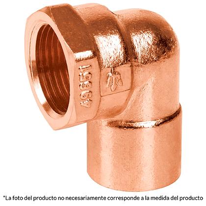 CODO CONECTOR HEMBRA DE COBRE NACOBRE 1/2, MOD: 49650