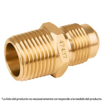 CONECTOR MACHO FLARE 3/8 X 1/2, MOD: 47434