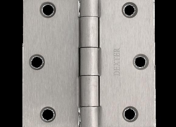 "(DES) BISAGRAS DEXTER 3""X3"" 2mm MOD:S/BALEROS C/PLANA CS C/T BL"