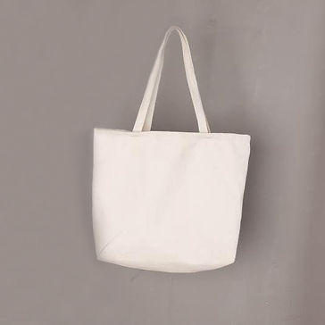 Blank paintable canvas tote