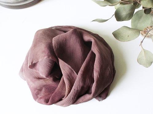 PURPLE TIE DYE SCARF - Natural dye