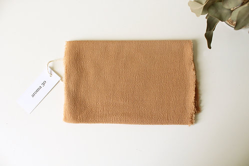 BOTANICALLY DYED WOOL SCARF - Mustard
