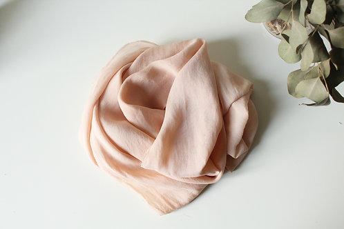 SOFT PINK DYE SCARF - Natural dye