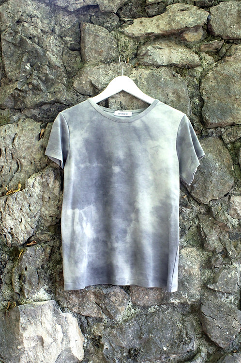 TIE DYE T-SHIRT Grey - Natural dye
