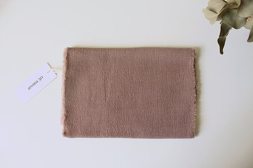 BOTANICALLY DYED WOOL SCARF - Dust Pink