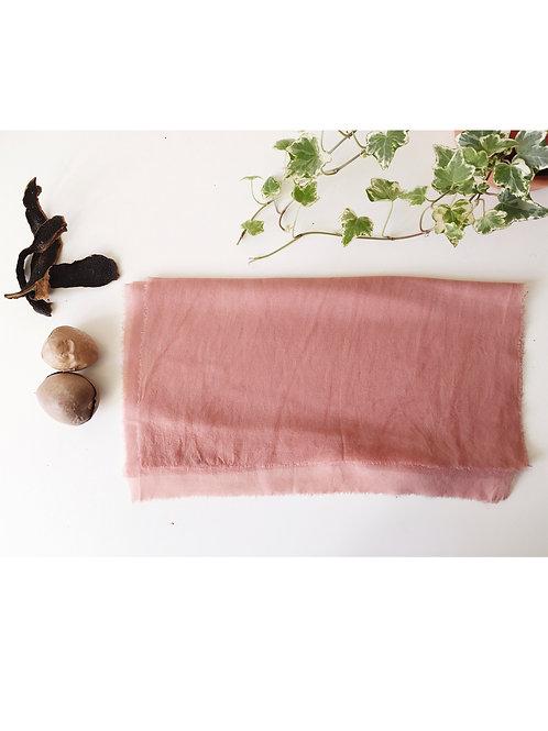 AVOCADO SILK SCARF - Natural dye