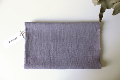 BOTANICALLY DYED WOOL SCARF - Lilac