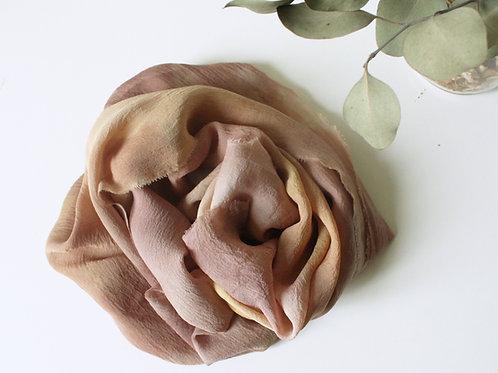 SUNSET TIE DYE SCARF - Natural dye