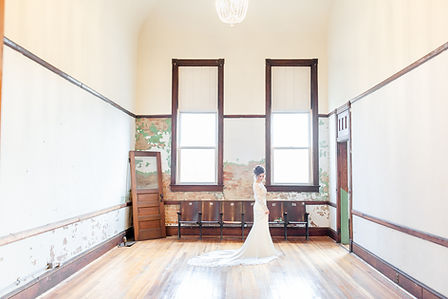 Bride in the historic Legacy Opera House