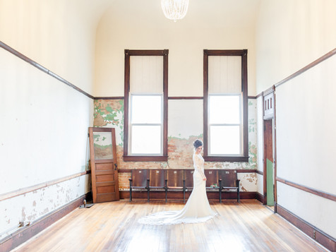 Bride in The Legacy Building