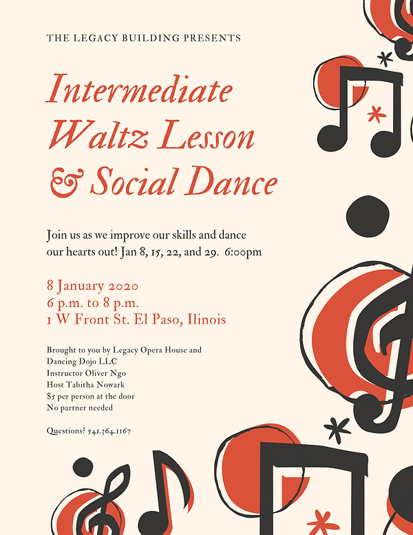 Intermediate Waltz Lesson & Social Dance