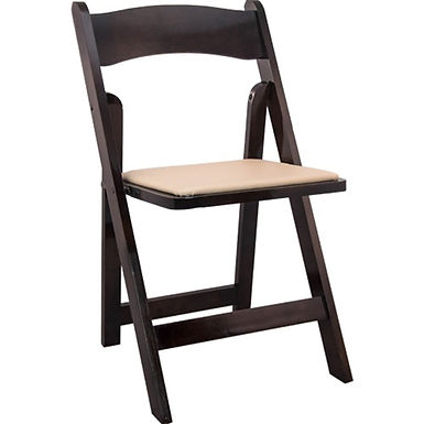 Fruitwood Folding Wedding Chairs