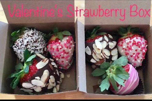 Valentine strawberry Box of 3
