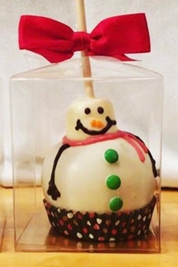 Snowman Caramel Apple