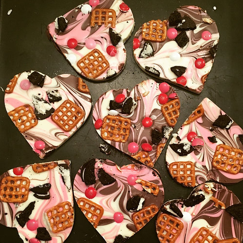 """Don't Break My Heart"" Chocolate Bark"