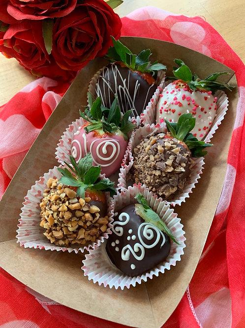 Half Dozen Valentine Strawberries