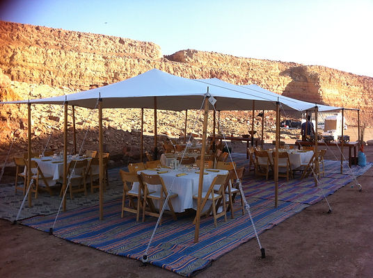 Adam Sela meal desert Negev BBQ outdoor