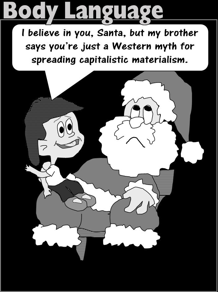 Body Language santa myth