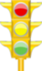 Traffic light sign with post