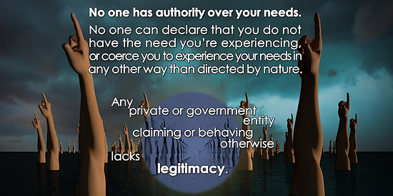 No authority over needs except nature.pn