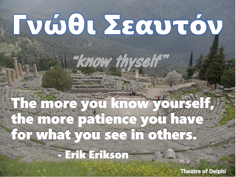 ''know thyself'' Erikson quote.png