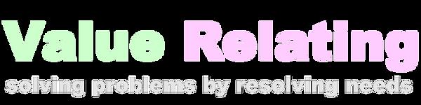 VR trademark & tagline, light lettering