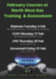 February Courses at North West Gas Train