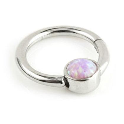 1.2mm Steel Opal  Hinge Ring