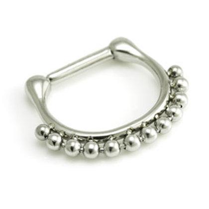 1.2mm Steel Ball Septum Ring