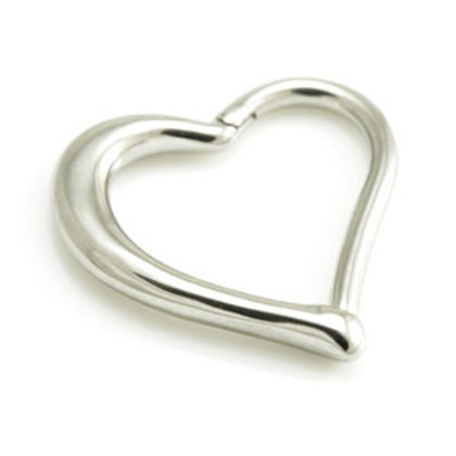 1.2mm Hinged Steel Heart Ring