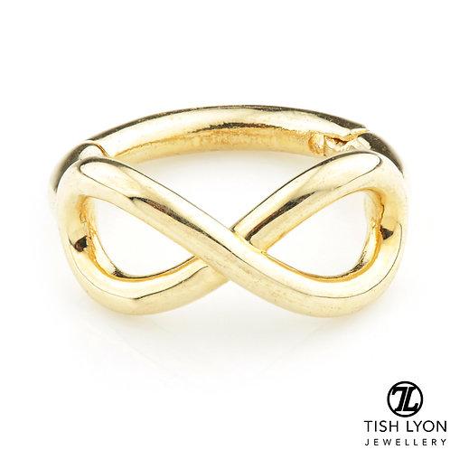 TISH LYON® - Gold Infinity Hinge Ring