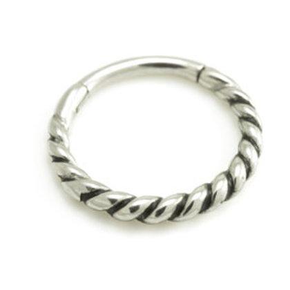 1.2mm Twisted Steel  Hinge Micro Segment Ring