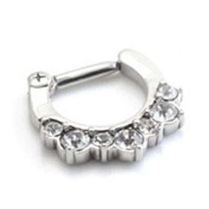 Swarovski Jewelled Septum Ring