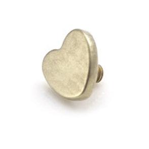 Internal PVD Gold Titanium 4mm Heart Disk