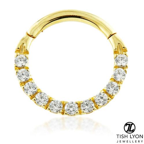 TISH LYON® - Pavé Gem Eternity Hinge Ring