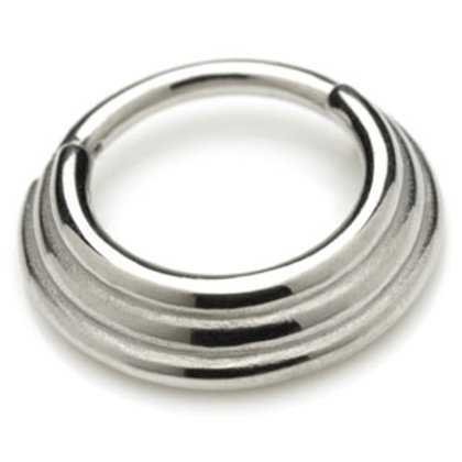 1.2mm Micro Polished Steel Hinged Graduated Banded Ring