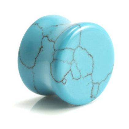 Turquoise Stone Plug (Dyed Howlite) - Sold Individually