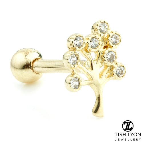 TISH LYON® 9ct Gold Gem Tree Microbar