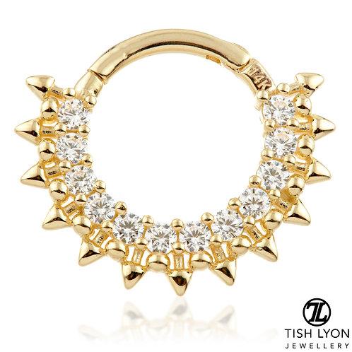 TISH LYON® - Pavé Multi Jewelled Septum / Daith Ring