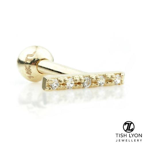 TISH LYON® Multi Gem Gold Bar Micro Bar