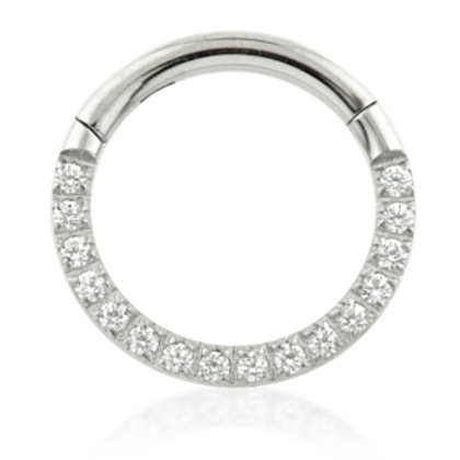 1.2mm Forward Facing Pave Gems Hinged Ring