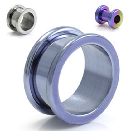 Titanium 2 Piece Tunnel With Rounded Edges  - Sold Individually