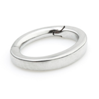Steel Hinge Flat Rook Ring