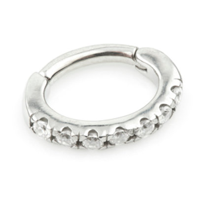 Steel Hinge Pave Rook Ring