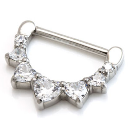 Cast Steel Nipple Clicker with Swarovski Gems