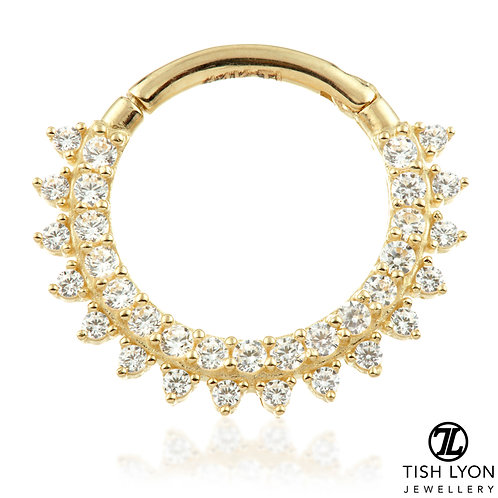 TISH LYON® - Pavé Multi Jewelled Septum / Daith Ring
