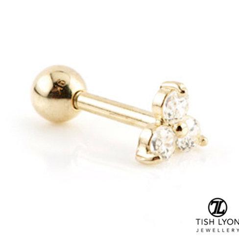 TISH LYON® Gold Trinity Gem Microbar