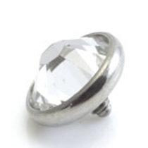 8mm Titanium Crystal Jewel Disk For Dermal Anchor